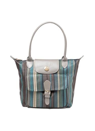 TH Bags TH Bags 2THCW2020032 Çizgili Kumaş Renkli Kadın Omuz Çantası Renkli